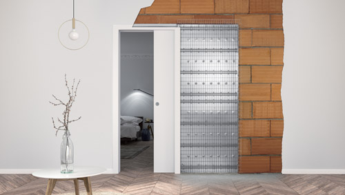 Eclisse Telai Porte Scorrevoli.Controtelai Per Porte Filo Muro Scorrevoli Con Intonaco Eclisse